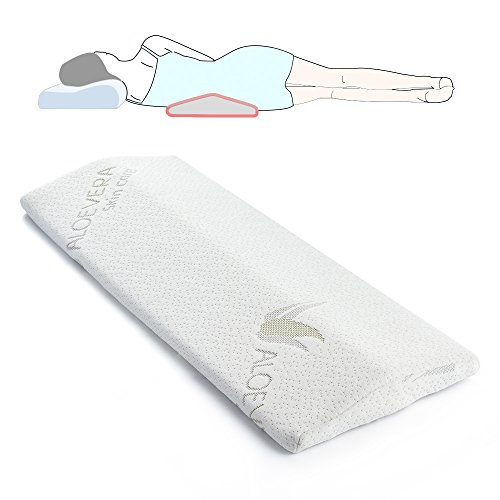 Sleeping Pillow for Back pain,Soft Memory Foam Lumabr Support Cushion for Side and Back Sleeper, Therapeutic Body Pillow for Sciatica Leg Hip Pregnancy and Joint Pain