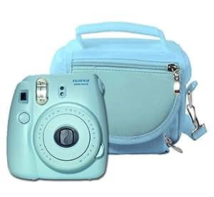 Modern-Tech - Funda para cámara Fuji Instax Mini 8/ Mini 90 (espacio para carrete extra, accesorios, etc.), color azul