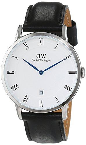 Daniel-Wellington-Herren-Armbanduhr-Analog-Quarz-Leder-DW00100088