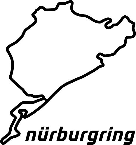 - BEARGRAPHIX JDM Nurburgring Germany Race Track Decal Sticker Car Motorcycle Truck Bumper Window Laptop Wall Décor Size- 6 Inch Wide Gloss White Color