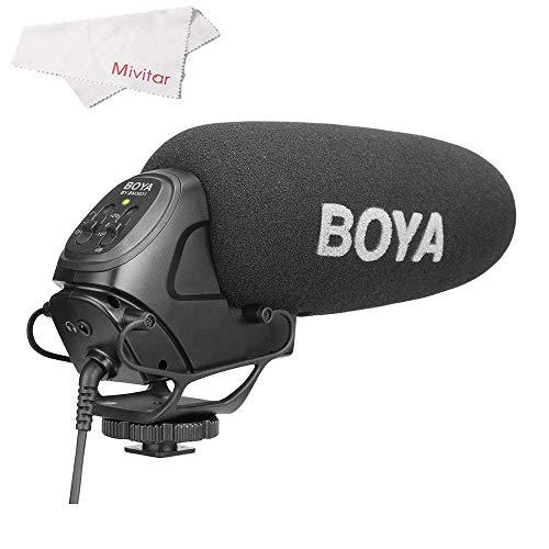 سوئیچ PAD میکروفون تفنگدار BOYA BY-BM3031 روی دوربین: -10dB ، 0 ، 20dB برای دوربین های DSLR ، دوربین های فیلمبرداری ، ضبط صدا