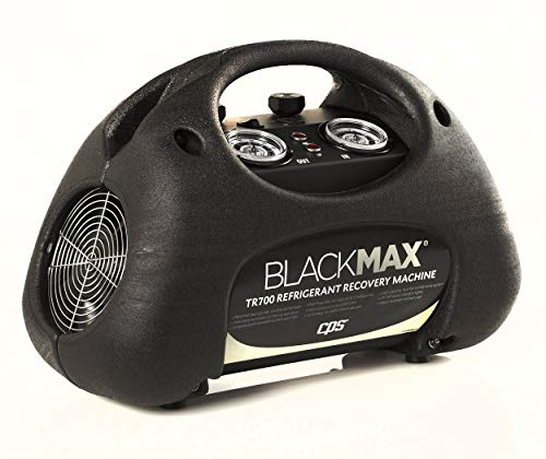 (CPS BLACKMAX TR700 Premium Series Twin Cylinder Refrigerant Recovery Machine, with LP Switch and Dual Fan Cooling System, 115V / 60Hz)