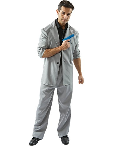 Mens Adult Miami Vice Detective 'Rico' Tubbs 80s Cop Outfit Fancy Dress Costume (The 80s Outfits)