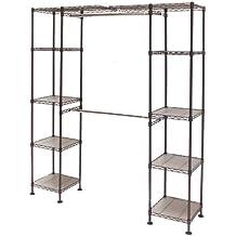 Seville Classics Expandable Closet Organizer System, Satin Bronze