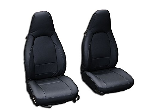 - Iggee Black Artificial Leather Custom Made Original fit Front seat Covers Designed for Porsche Boxster 1997-2004