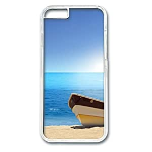 iCustomonline Beach Rowing Boat Designed iPhone 6 (4.7 inch) Plastic PC Transparent Hard Back Case