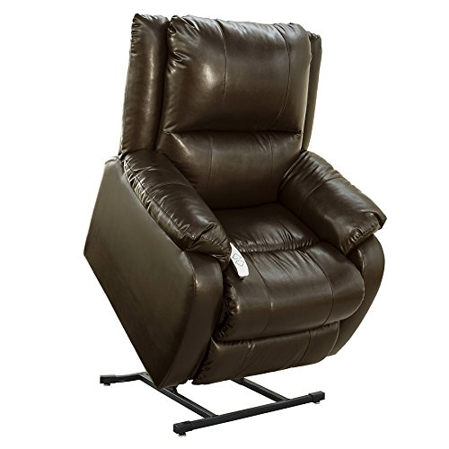 """NM-2650 (Sta-Kleen Vinyl-Chestnut) Mega Motion Power Lift Recliner Chair.Weight Capacity: 375 lb. Suggested User Height: 5'6"""" to 6'. Free Curbside -"""
