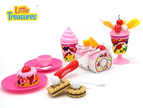 Little Treasures Pretend Play Party Desert Set for kids 3+