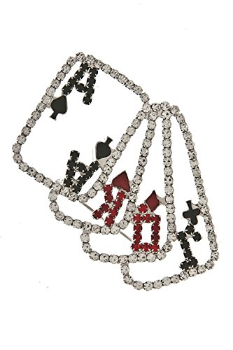 TRENDY FASHION JEWELRY PLAYING CARDS BROOCH BY FASHION - Brooch Mother Card