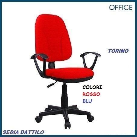 Sedia Ufficio Torino Rossa 454330 pratiko: Amazon.it: Casa e ...