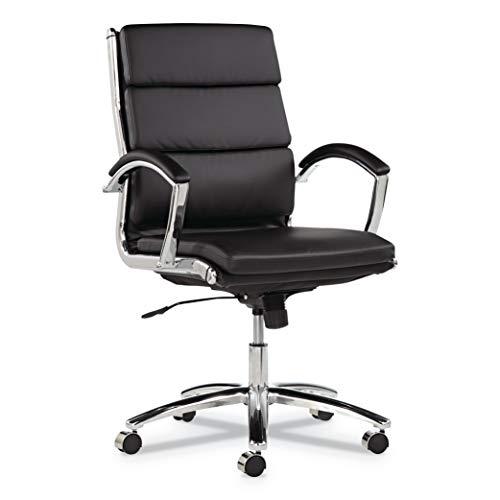 Swivel Back Tilt Chair (Alera ALENR4219 Neratoli Series Mid-Back Swivel/Tilt Chair, Black Leather, Chrome Frame)