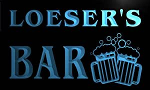 w024883-b LOESER Name Home Bar Pub Beer Mugs Cheers Neon Light Sign