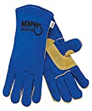 MCR Safety 4500 Memphis Glove Split Leather Welding Glove, Large, Blue (Pack of 12)