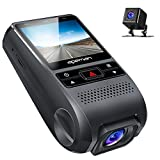 APEMAN Dash Cam Dual Dash Camera DVR Dashboard Recorder FHD 1080P Front and Rear Car Camera 170 Wide Angle with G-Sensor, WDR, GPS, Loop Recording, Motion Detection,Parking Monitoring