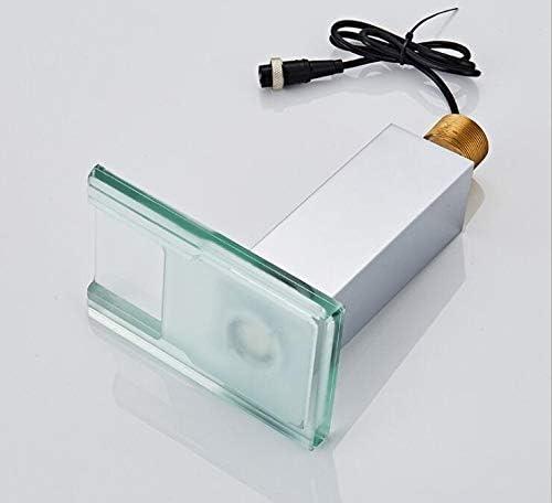 有用 浴室自動スマートセンサーLED流域の蛇口の滝流域ミキサータップ 調整可能 (Surface Finishing : Chrome)