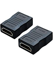 HDMI Female to Female Adapter, CableCreation 2-Pack High Speed HDMI Coupler 4K&3D Extender for TV Roku PS3/PS4 and Extending Your HDMI Devices