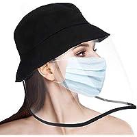 Anti-Saliva Protective Cap Windproof Full Face Shields Anti-dust Head Protector Stylish Fisherman Hat (Adult)