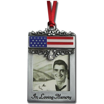 Cathedral Art CO744 Patriotic Picture Photo Frame Memorial Ornament, 1-3/4-Inch ()