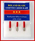 3-Pack 45 Degree Roland Type Cemented Carbide Blade Set