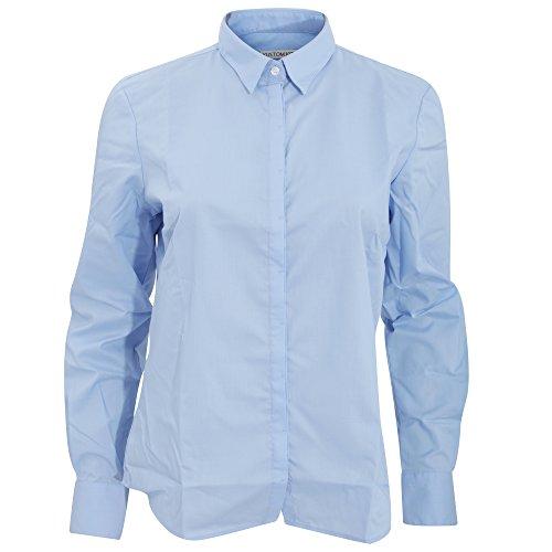 Kustom Kit - Camisa de manga larga para trabajo modelo Contemporary para mujer Azul claro
