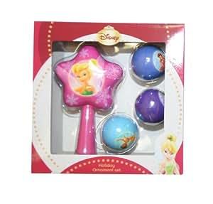 Disney 4-Piece Christmas Tree Holiday Ornament Set (Tinker Bell)