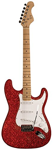 Indy Custom ICE-RSPK Solid Body Electric Guitar, Red Sparkle