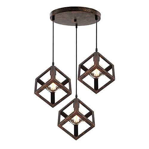 iDEGU - Lámpara de techo con 3 luces de techo de diseño ...