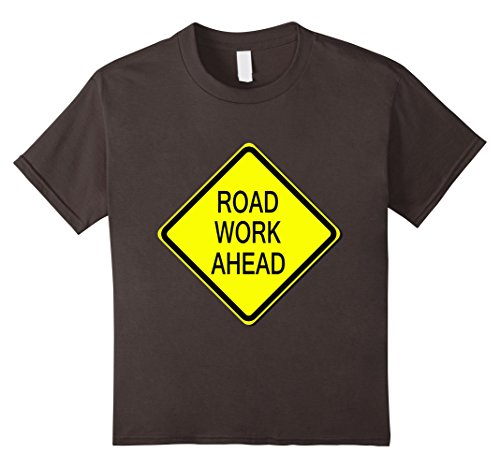 Kids Road Work Ahead Sign Simple Easy Halloween Costume T-Shirt 8 (Road Sign Halloween Costumes)