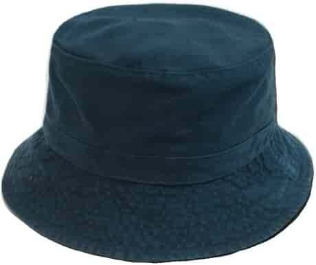 d90c9678c Decky Cotton Unstructured Polo Style Bucket Hat (Large/XL, Navy Blue)