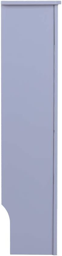 FXxswey MDF Wood Radiator Cover Board Stripe Pattern (White, S) Grey