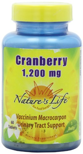 Nature's Life Cranberry Concentrate Tablets, 1200 Mg, 60 Count Review