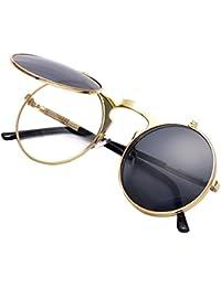 Vintage Round Flip Up Sunglasses for Men Women Juniors...