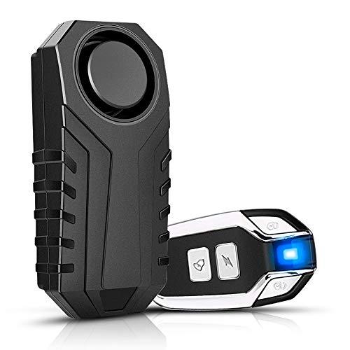 YBLNTEK Fietsalarminstallatie, 113 dB, draadloos motorfiets-alarm met afstandsbediening, IP55 waterdicht, anti-diefstal…