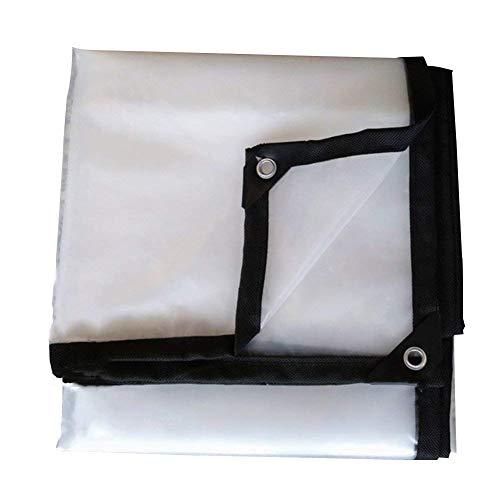 社会主義トレイル合法QIANGDA トラックシート荷台カバープラスチック小屋 防塵 防水 透明 フロアカバー アウトドア、 複数のサイズ (色 : トランスペアレント, サイズ さいず : 3x6m)