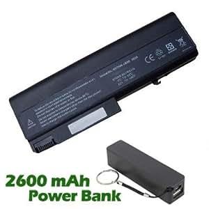 Battpit Bateria de repuesto para portátiles HP 486295-001 (6600 mah) con 2600mAh Banco de energía / batería externa (negro) para Smartphone