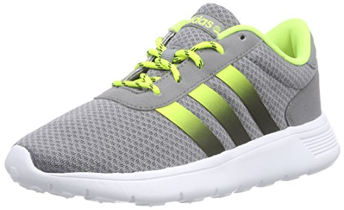 adidasLite Racer - Zapatillas Unisex adulto Gris - Grau (Grey / Core Black / Solar Yellow)