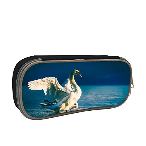 The Bonny Swans Large Capacity Multi-Layer Pencil Case Back To School Choice Black by dreambest