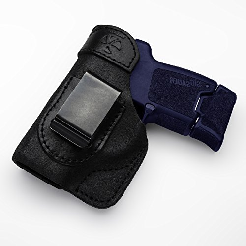 Talon Holsters Compatible Sig Sauer P290 IWB Concealed Carry LeatherHolster (Black, Right Hand)