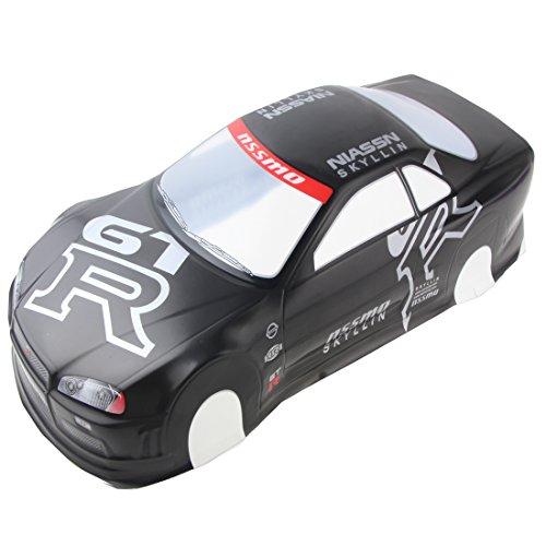 Coolplay 1/10 PVC Car Body Shell RC Racing Car Accessories NIASSN GTR- Gray