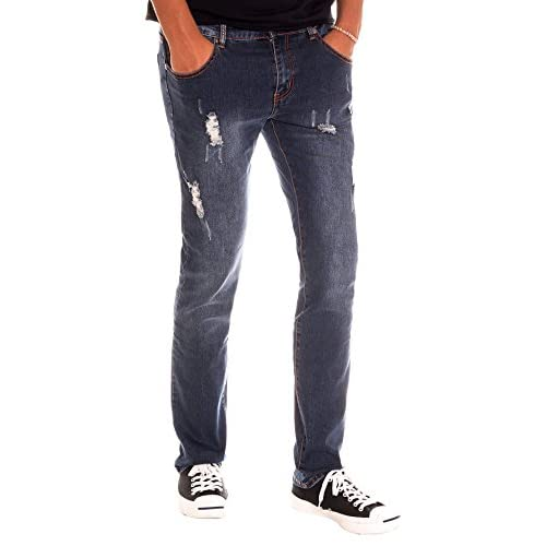 32931e9543bb RNZ PREMIUM Men s T8001 Stretch Skinny Jean with Faded Look and Ripped  Detail hot sale