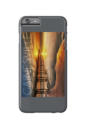 Gainesville, Florida - Pier and Golden Sunset (iPhone 6 Plus Cell Phone Case, Slim Barely There) (Golden Pier)
