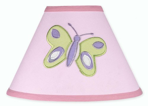 Pink and Purple Butterfly Collection Lamp Shade by Sweet JoJo Designs ()