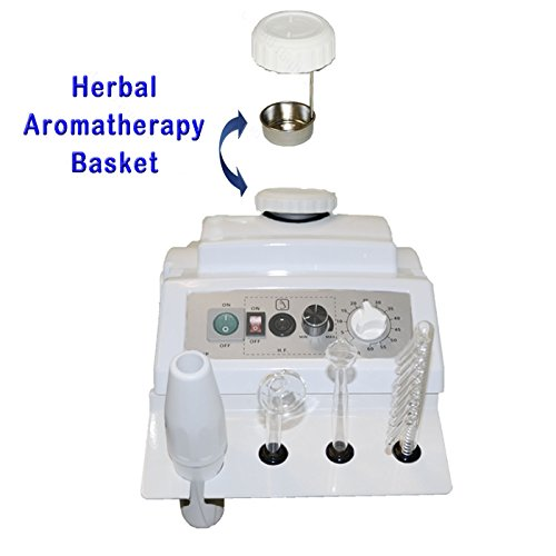 LCL Beauty Salon Spa Package: 2 in 1 Herbal Aromatherapy Facial Steamer, Professional High Frequency Machine. Adjustable Facial Bed with Technician Stool by LCL Beauty (Image #3)