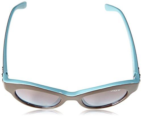 Azure Brown Mujer Gradient Marrón para Gafas Sol Vogue de xwqv0TZUg