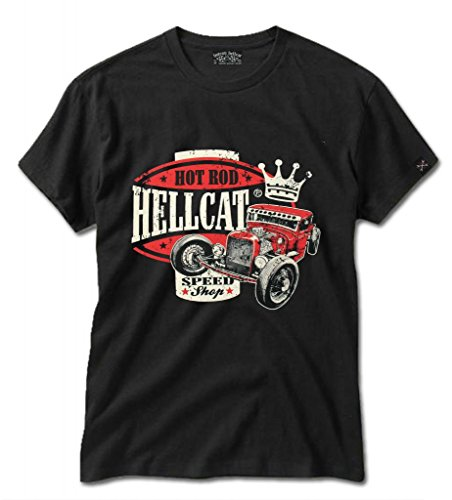 Hotrod-Hellcat-Mens-Speed-King-Garage-Rockabilly-Chopper-Rumble-Kerosin-T-Shirt