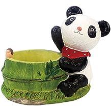 Adarl DIY Mini Creative Flower Pot Flower&Fruits Plants Seeds Gardening Pots Planters&Container Accessories Resin Panda Pots