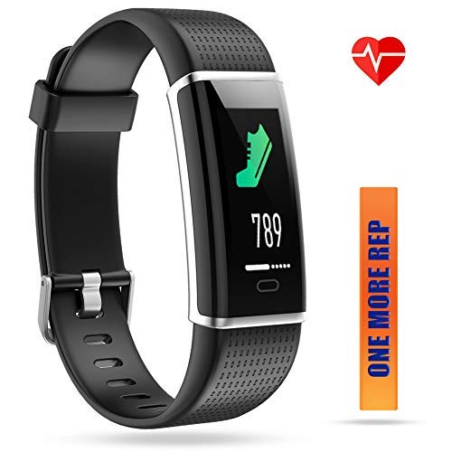 ZURURU Fitness Tracker, Waterproof Color Screen Fitness Watch with Calorie, Step & Distance Counter, Pedometer, Sleep & Heart Rate Monitor, Activity Tracker for Smart Phones Gift.