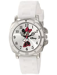 Disney Kids' MN1064 Minnie Mouse White Rubber Strap Watch