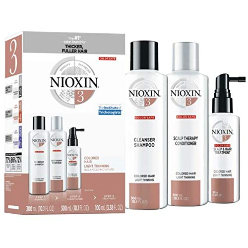 Nioxin Hair Care System 3 Kit for Colored Hair with Light Thinning (Best Conditioner For Color Treated Hair 2019)
