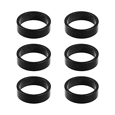 """Bluecell 6pcs 10mm Aluminum Alloy Bike Headset Spacer Stem Spacer Bicycle Headset Washer for MTB Bike Road Bikes 1-1/8"""" Fork"""